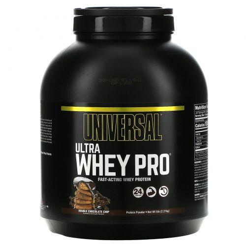 Universal Nutrition, Ultra Whey Pro, белковый порошок, двойная доза кусочков шоколада, 2,27 кг (5 фунтов)