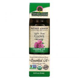 Nature's Answer, Органические эфирные масла, масло гвоздики, 0,5 жидких унций (15 мл)