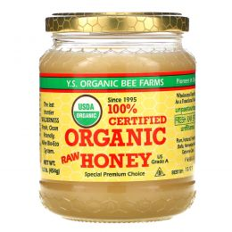 Y.S. Eco Bee Farms, 100% Certified Organic Raw Honey, 1.0 lbs (454 g)