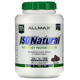 ALLMAX Nutrition, IsoNatural, 100% Ultra-Pure Natural Whey Protein Isolate (WPI90), Chocolate, 5 lbs (2.27 kg)