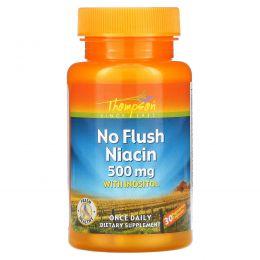 Thompson, Ниацин нелегкоусваиваемый, 500 мг, 30 вегетарианских капсул