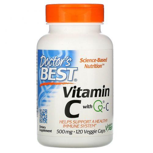 Doctor's Best, Витамин С от Best, 500 мг, 120 вегетарианских капсул