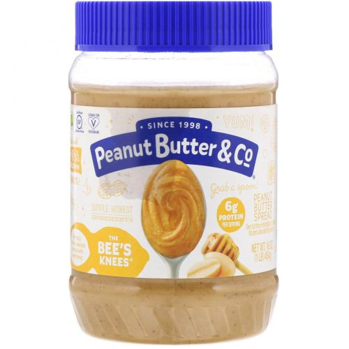 Peanut Butter & Co., The Bee's Knees, Арахисовое масло с мёдом, 16 унций (454 г)