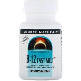 Source Naturals, Метилкобаламин, 5 мг, 60 быстрорастворимых таблеток