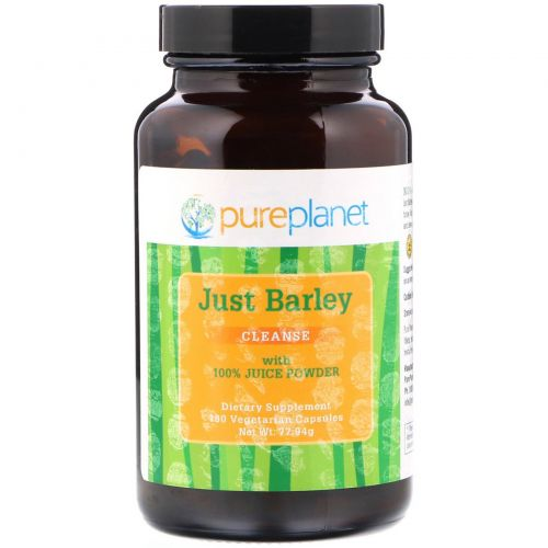 Pure Planet, Just Barley, 333 мг, 180 вегетарианских капсул