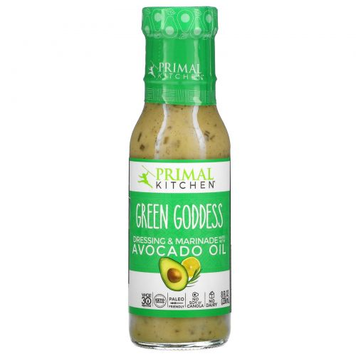 Primal Kitchen, Green Goddess Dressing & Marinade Made with Avocado Oil, 8 fl oz (236 ml)