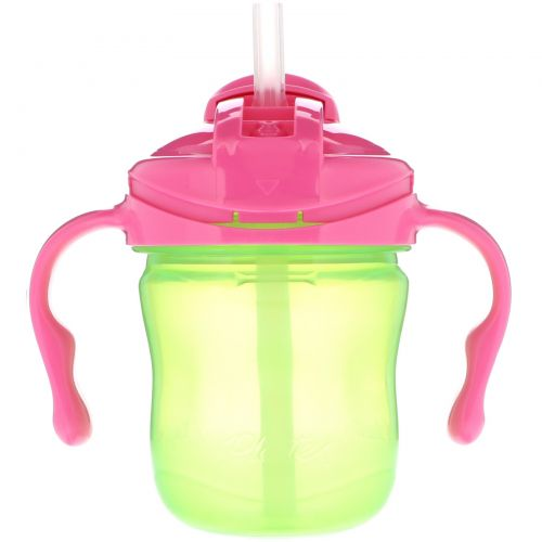 Playtex, Sipsters, не протекающая чашка с соломинкой, этап 1, 4 + месяцев, 1 чашка, 6 унций(177 мл)