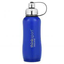 Think, Thinksport, герметичная бутылка для спортсменов, синяя, 25 унций (750 мл)