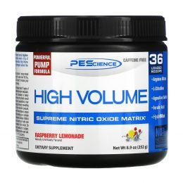 PEScience, High Volume, Supreme Nitric Oxide Matrix, Caffeine Free, Raspberry Lemonade, 8.9 oz (252 g)