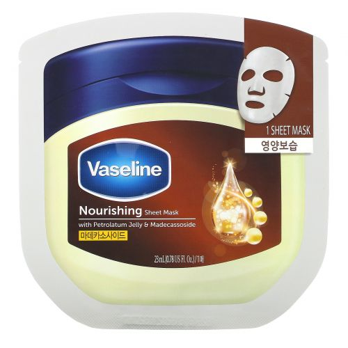 Vaseline, Nourishing Sheet Mask with Petrolatum Jelly & Madecassoside, 1 Sheet, 0.78 fl oz (23 ml)