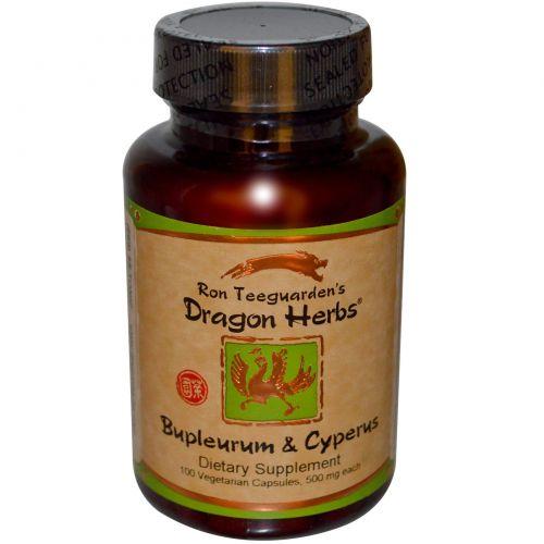 Dragon Herbs, Володушка и масло земляного миндаля, 500 мг, 100 вегетарианских капсул