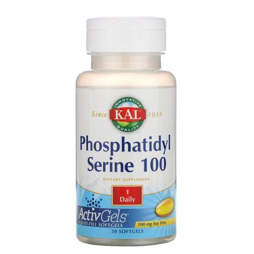 KAL, Фосфатидилсерин 100, 30 мягких таблеток