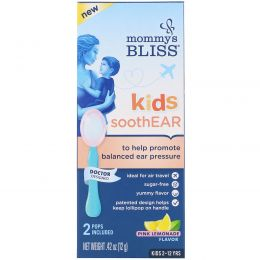 Mommy's Bliss, Kids, SoothEAR, Pink Lemonade, 2 Pops