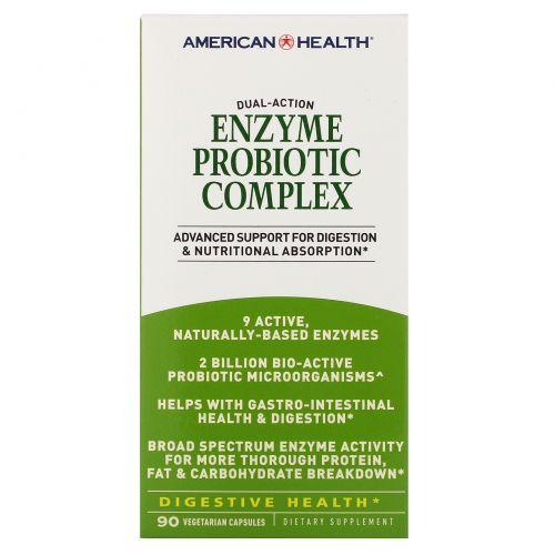 American Health, Ферментный пробиотический комплекс, 90 вегетарианских капсул