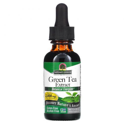 Nature's Answer, Зеленый чай, без спирта, 1 жидкая унция (30 мл)