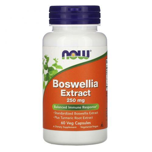 Now Foods, Boswellia Extract, 250 mg, 60 Veg Capsules