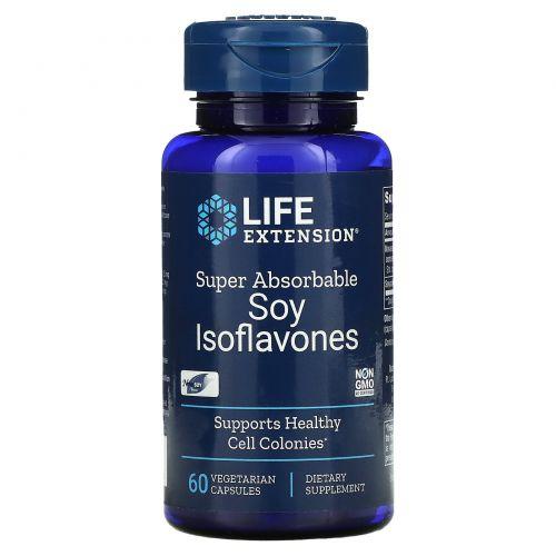 Life Extension, Соевые изофлавоны, суперрассасывающиеся, 60 вегетарианских капсул