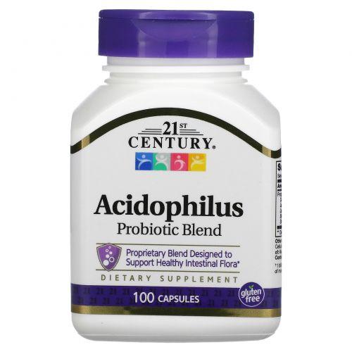 21st Century, Пробиотическая смесь бактерий Acidophilus, 100 капсул