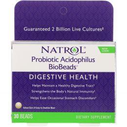 Natrol, Ацидофильный пробиотик «БиоГранулы», 30 гранул
