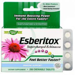 Nature's Way, Эсберитокс - суперзаряженная эхинацея, 200 жевательных таблеток