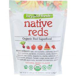 Beyond Fresh, Истинно красный, органический красный суперпродукт, натуральный ягодный вкус, 10,58 унц. (300 г)