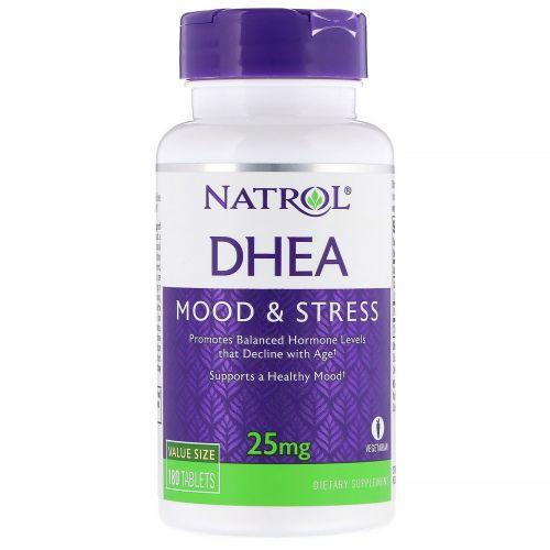 Natrol, DHEA, Mood & Stress, 25 mg, 180 Tablets