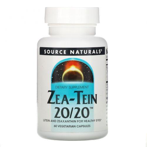 Source Naturals, Zea-Tein 20/20, 60 вегетарианских капсул