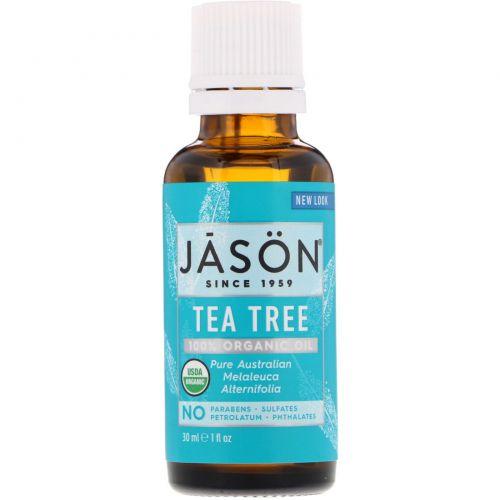 Jason Natural, 100% натуральное масло чайного дерева, 1 жидкая унция (30 мл)