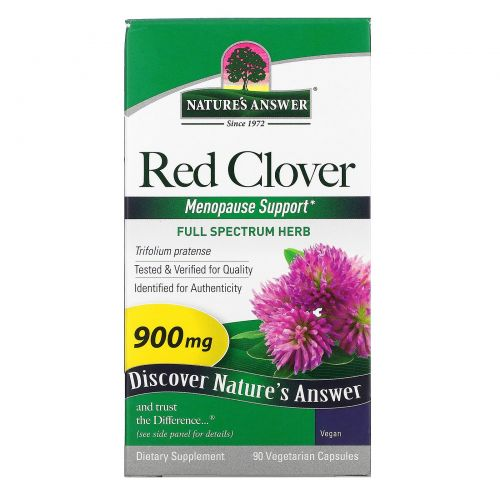 Nature's Answer, Красный клевер, 900 мг, 90 капсул на растительной основе