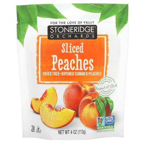Stoneridge Orchards, Нарезанные персики, Сушеные спелые летние персики, 4 унции (113 г)