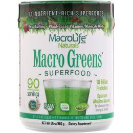 Macrolife Naturals, Macro Greens, Superfood, 30 унции (850 g)