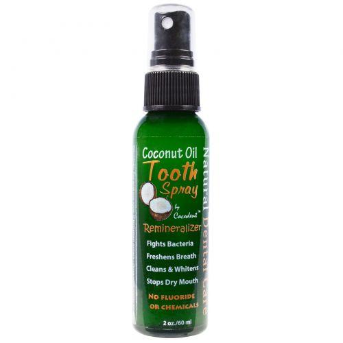Greensations, Зубной спрей с кокосовым маслом, 2 унции (60 мл)