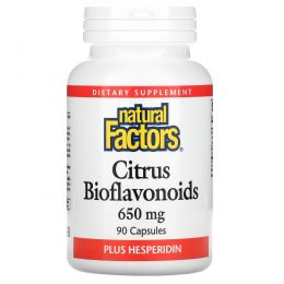 Natural Factors, Цитрусовые биофлавоноиды, 650 мг, 90 капсул