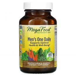 MegaFood, Ежедневный витамин для мужчин, без железа 60 таблеток