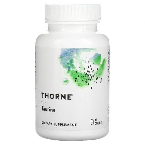 Thorne Research, Таурин, 90вегетарианских капсул