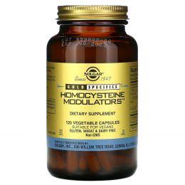Solgar, Gold Specifics, модуляторы гомоцистеина, 120 вегетарианских капсул
