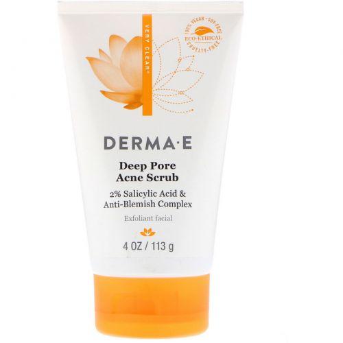 Derma E, Скраб Very Clear с комплексом для проблемной кожи, 4 унции (113 г)