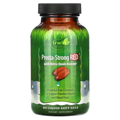Irwin Naturals, Prosta-Strong RED, 80 мягких капсул с жидкостью
