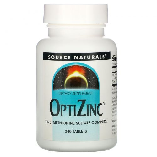 Source Naturals, OptiZinc, 240 таблеток