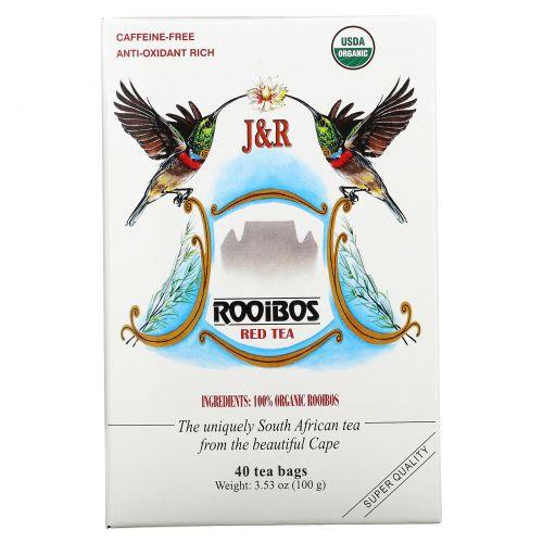 Port Trading Co., Натуральный красный чай Ройбос, без кофеина, 40 чайных пакетиков, 3,53 унции (100 г)