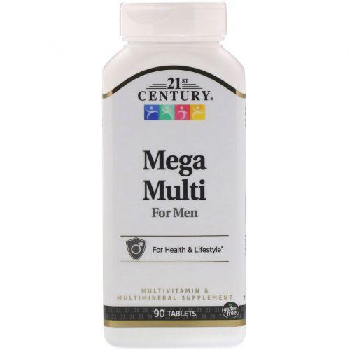 21st Century, Mega Multi, для мужчин, мультивитамины и мультиминералы, 90 таблеток