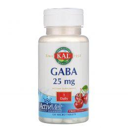 KAL, GABA, Cherry, 25 mg , 120 Micro Tablets