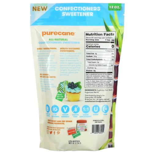 Purecane, No Calorie Confectioners Sweetener,  12 oz (341 g)
