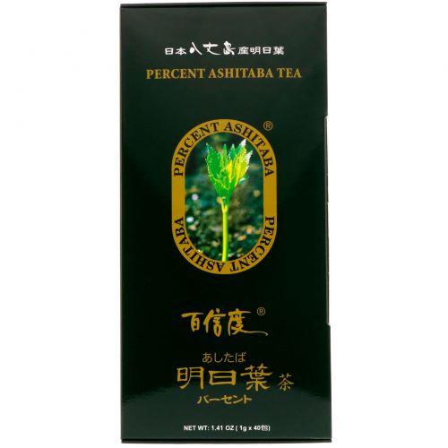 Percent Ashitaba, Чай Percent Ashitaba, 40 чайных пакетиков, 1,41 унц.