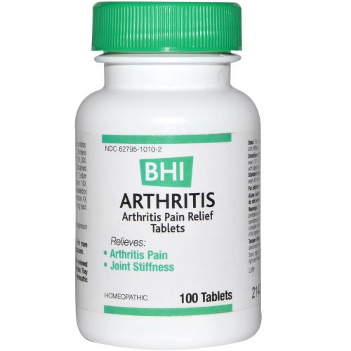 MediNatura, BHI, средство от артрита, 100 таблеток