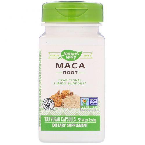 Nature's Way, Корень мака, 525 мг, 100 капсул