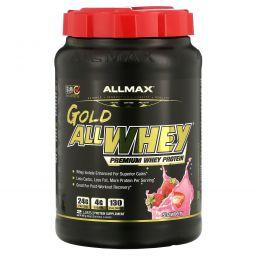 ALLMAX Nutrition, AllWhey Gold, 100% Whey Protein + Premium Whey Protein Isolate, Strawberry, 2 lbs (907 g)