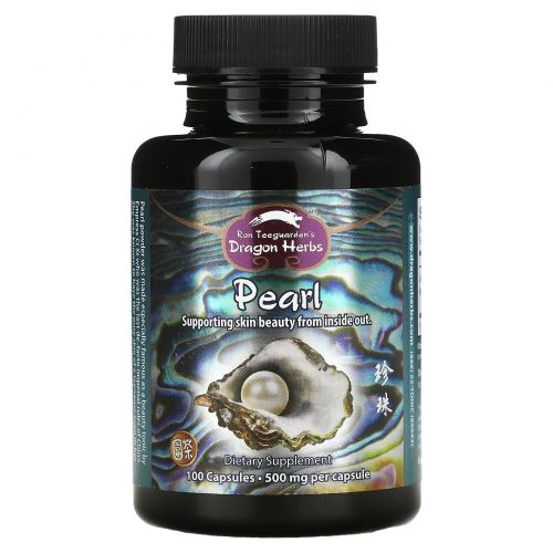 Dragon Herbs, Жемчужный порошок, 500 мг, 100 капсул