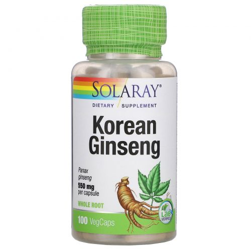 Solaray, Korean Ginseng, 550 mg, 100 VegCaps