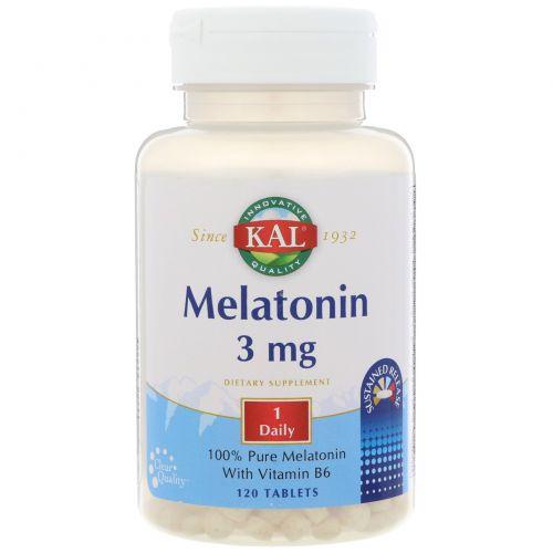 KAL, Melatonin SR, 3 mg, 120 Tablets